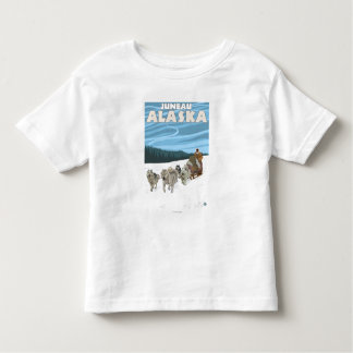 Dog Sledding Scene - Juneau, Alaska Toddler T-shirt