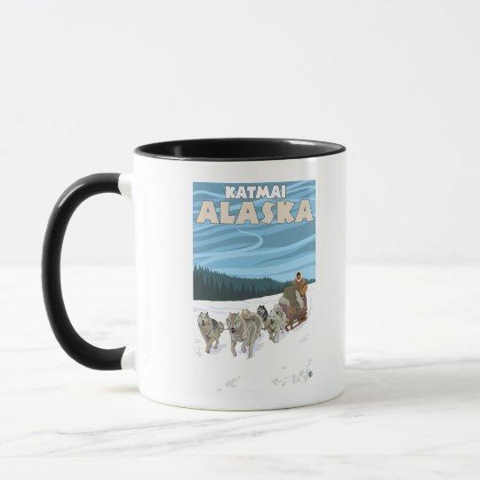 Dog Sledding Scene - Katmai, Alaska Mug