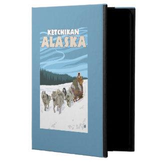 Dog Sledding Scene - Ketchikan, Alaska Cover For iPad Air