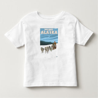 Dog Sledding Scene - Valdez, Alaska Toddler T-shirt