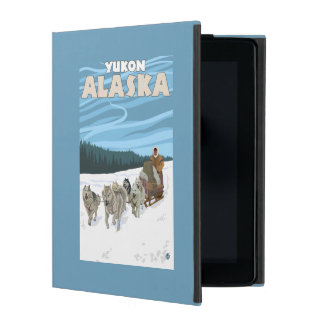 Dog Sledding Scene - Yukon, Alaska iPad Folio Case