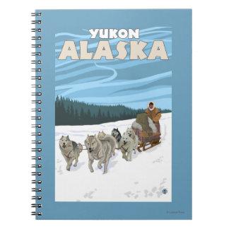 Dog Sledding Scene - Yukon, Alaska Spiral Notebook