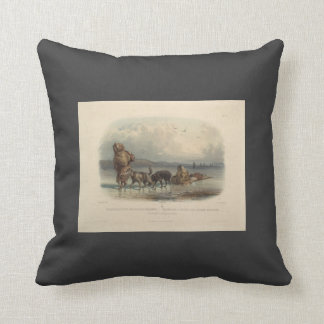 Dog Sledges of the Mandan Indians by Karl Bodmer Pillows