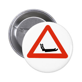 Dog Sleds Crossing, Traffic Sign, Greenland Button