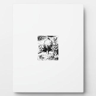 Dog, small plaque