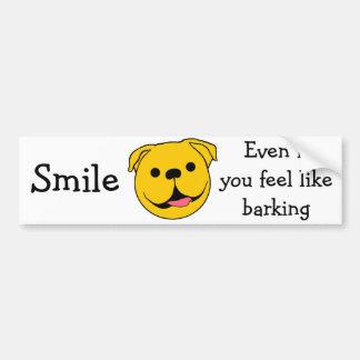 Dog Smiley Bumper Sticker
