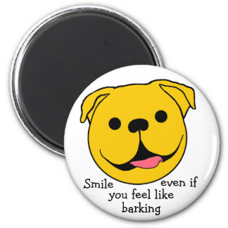 Dog Smiley Magnet