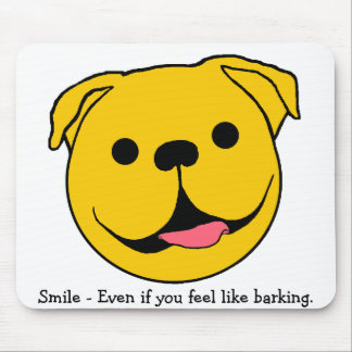 Dog Smiley Mouse Pad