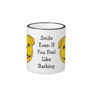 Dog Smiley Ringer Mug