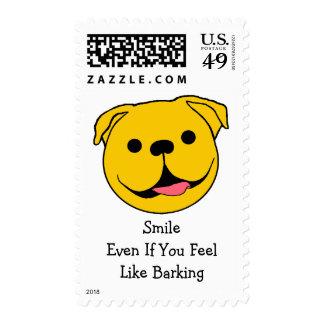 Dog Smiley Stamp