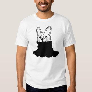 Dog Smiley Turtleneck Black T Shirt