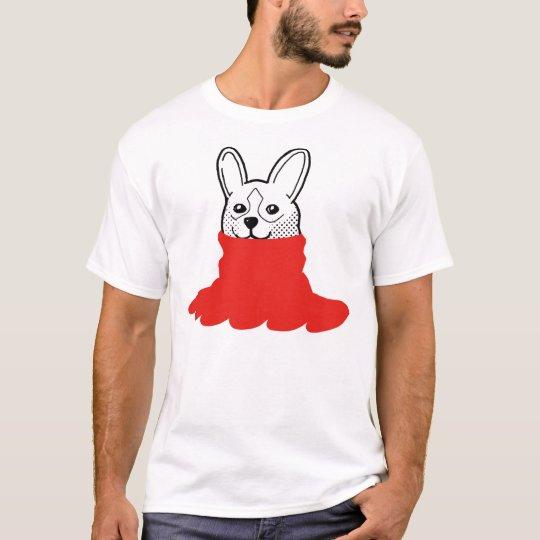 Dog Smiley Turtleneck Red T-Shirt