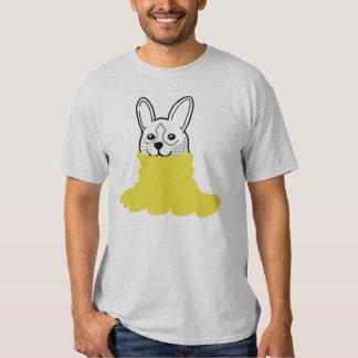 Dog Smiley Turtleneck Yellow T-shirt