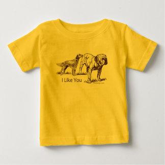 Dog Sniffs Butt Baby T-Shirt