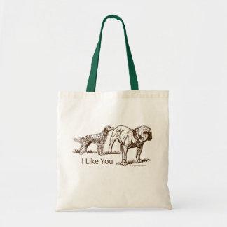 Dog Sniffs Butt Tote Bag