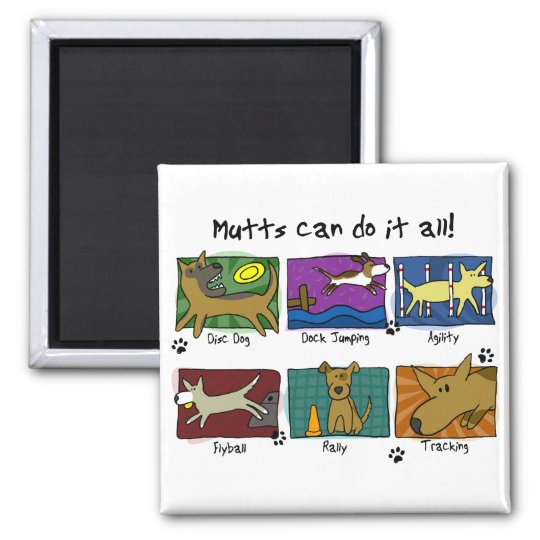 Dog Sports Mutts Magnet