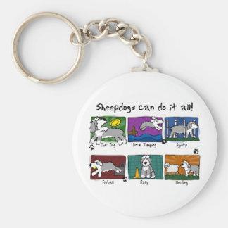 Dog Sports Old English Sheepdog Keychain