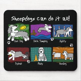 Dog Sports Old English Sheepdog Mouse Pad