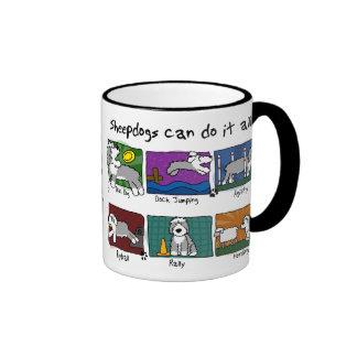 Dog Sports Old English Sheepdog Ringer Coffee Mug