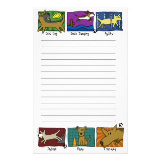 Dog Sports Stationery (Lined)