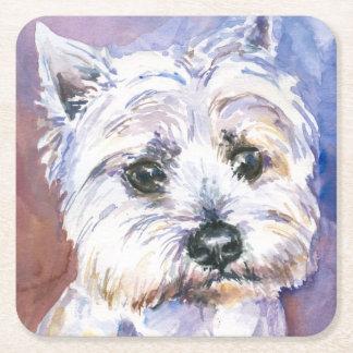 Dog Square Paper Coaster