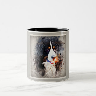 Dog, St. Bernard - Saint Berne ARD Dog Two-Tone Coffee Mug