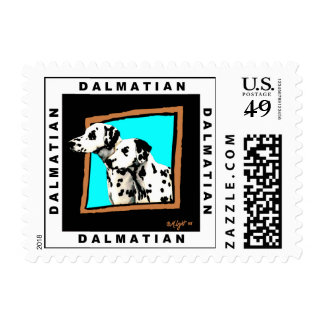 Dog Stamps:  Dalmatians Looking Out of Window Postage