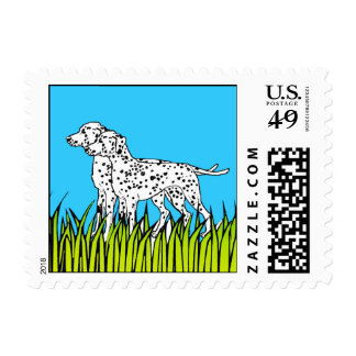 Dog Stamps - Dalmations in Field