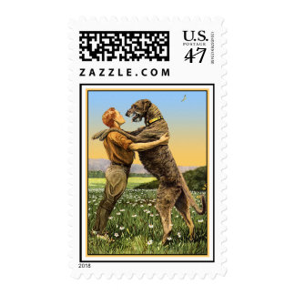 "Dog Stamps - ""Irish Wolfhound Greeting"""