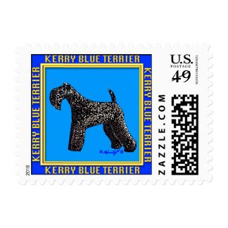 Dog Stamps: Kerry Blue Terrier Stamp