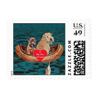Dog Stamps - Wheaten Terrier: Best Friend Postage