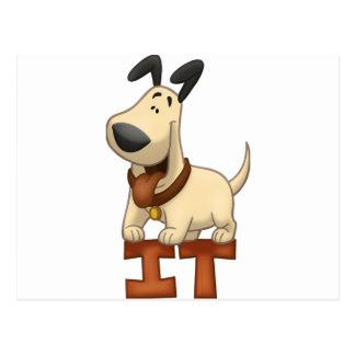 Dog Standing On IT Postcard