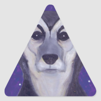 Dog Star Triangle Sticker