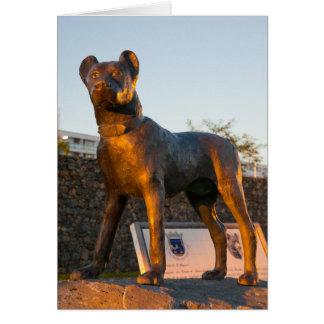 Dog statue card