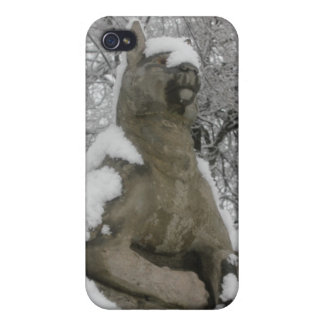 dog statue in snow iPhone 4/4S case