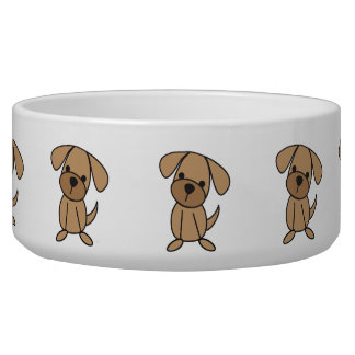 Dog Stick Figure Cute Pet Dish Dog Food Bowl
