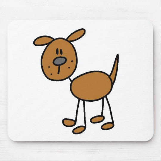 Dog Stick Figure Mousepad