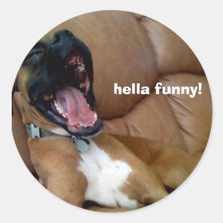 dog sticker hella funny!