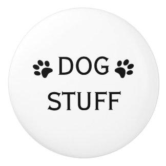 Dog Stuff Drawer or Pet Cupboard Knob Ceramic Knob