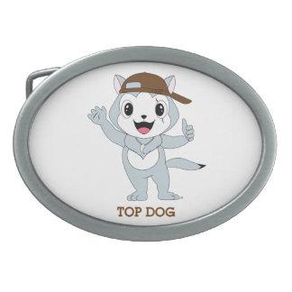 Dog™ superior hebilla de cinturon oval