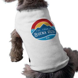 Dog sweater with round logo tee