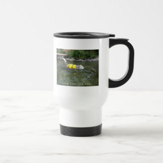 Dog Swimming Cayuga Lake NY Coffee Mug
