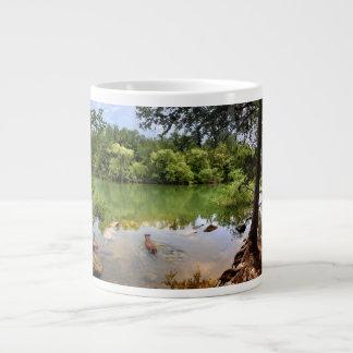 Dog Swimming Ladybird Lake 2 - Austin Texas Extra Large Mug