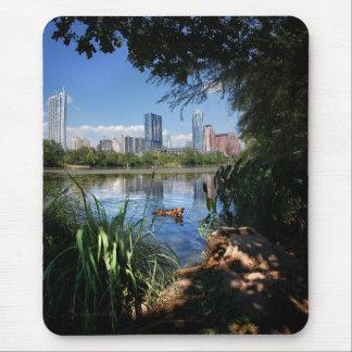 Dog Swimming Ladybird Lake 2 Downtown Austin Texas Mouse Pad