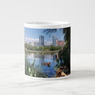 Dog Swimming Ladybird Lake 2 Downtown Austin Texas Extra Large Mug