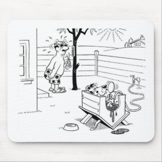 Dog Swimming Pool Mouse Pad