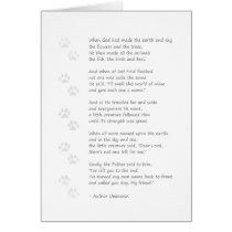 Dog Sympathy Card - Dog Poem on Front