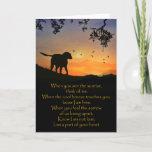 Dog Sympathy Card, Spiritual Poem Card
