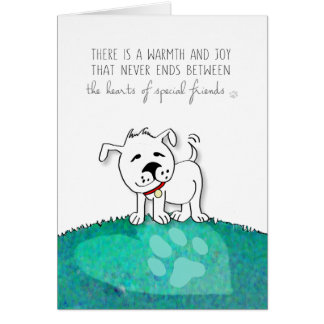 Dog Sympathy Card - The Hearts of Special Friends