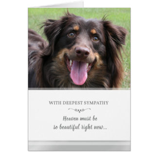 Dog Sympathy Custom PHOTO Heaven Must be Beautiful Card
